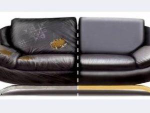 Перетяжка кожаного дивана в Челябинске